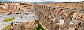 The famous Aqueduct of Segovia Spain
