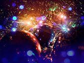 Christmas balls and lights.