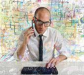 Businessman Phone