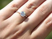 Sparkling Solitaire Engagement Ring