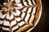 image of latte  - cup of coffee with latte art  - JPG