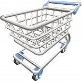 ein glänzend shopping Cart Trolley Vektor-illustration