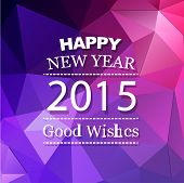 vector new year card illustration with good wishes with colorful triangle abstract style