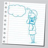 Female doctor thinking