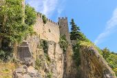 Fortress Wall In San Marino. The Republic Of San Marino