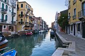 pic of academia  - Sunrise in Venice at canal near Academia bridge - JPG