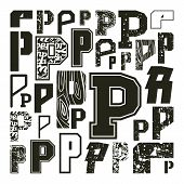 Set Versions Of Letters P