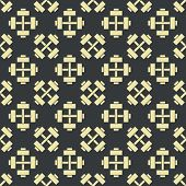 Retro vector gym seamless pattern