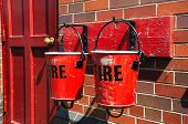 Two Victorian Fire Buckets.