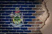 Dark Brick Wall With Plaster - Maine