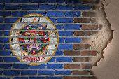Dark Brick Wall With Plaster - Minnesota