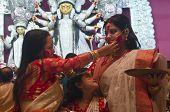 Sindur Khela During Hindu Festival Durga Puja