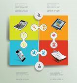 Infographic office design elements. Devices.