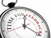 Time For Feedback Concept Clock