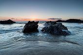 Sunset At Sharrow Beach