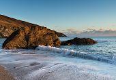 Hemmick Beach On The Cornwall Coast