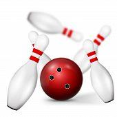 Постер, плакат: Bowling pin
