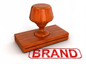 Rubber Stamp Brand (clipping path included)