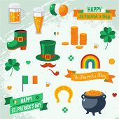 Set of St. Patrick's Day symbols.