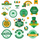 Set of Typographic Saint Patrick's Day Labels Design.