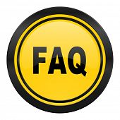 faq icon, yellow logo