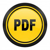 pdf icon, yellow logo