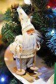 Santa Claus Toy Against Christmas Tree