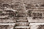 stock photo of epidavros  - The theater at Epidaurus Archeological Site in Greece - JPG