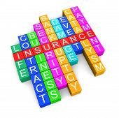 Insurance crossword (clipping path included)