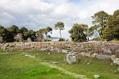 picture of epidavros  - The theater at Epidaurus Archeological Site in Greece - JPG