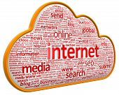 internet cloud (clipping path included)