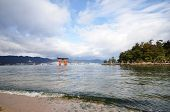 Tourists Visit Itsukushima Shrine On December 12, 2014 In Miyajima, Japan