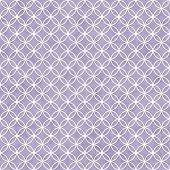 Purple And White Interlocking Circles Tiles Pattern Repeat Background