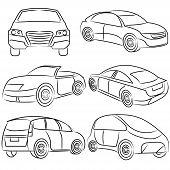 hand draw cars