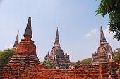 The Old Pagoda Of Ayudhaya Thailand.