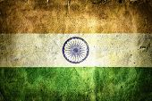 picture of gandhi  - Flag of India - JPG