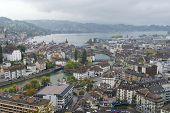 Lucern city on rainy day, Switzerland.