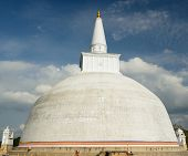 stock photo of vihara  - Anuradhapura ruin historical capital city of the Sinhalese Buddhist state on Sri Lances The photograph is presenting the Mirisavatiya Dagoba Stupa - JPG