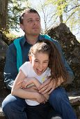 pic of 7-year-old  - A 10 years old girl enjoying a moment of fun with her dad - JPG