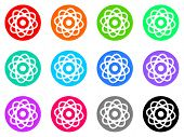 picture of atomizer  - atom vector icon set - JPG
