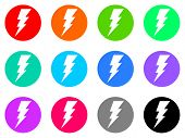 picture of bolt  - bolt vector web icon set - JPG