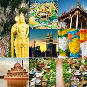 picture of klcc  - Collage of Malaysia attractions and landmark - JPG