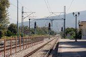 stock photo of electric station  - Old railroad station - JPG
