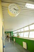 hospital corridor with watch