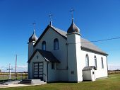 image of chapels  - A traditional Ukrainian Chapel in the farmlands of Canada - JPG