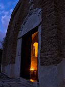 stock photo of serbia  - Entrance to church inside 12 - JPG