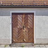 foto of bavaria  - house wooden brown door - JPG