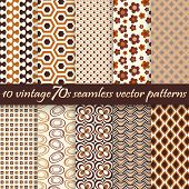picture of 70-year-old  - collection of ten seamless vintage 70s backgrounds - JPG