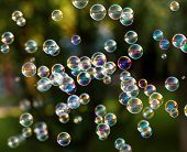 pic of blowers  - The rainbow bubbles from the bubble blower