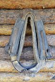 stock photo of yoke  - harness  fits over the horse - JPG